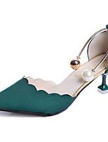 Da donna Sandali Comoda Gomma Estate Footing Comoda Fibbia Zeppa Nero Verde Rosa Meno di 2,5 cm