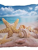 4 штук Натуральный Полиэстер Наволочка Наволочки,Текстура Ретро Традиционный/классический Поддерживать Евро Пляжный стиль