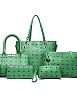 Women Bags All Seasons PU Tote with for Casual Office & Career Blue Green White Black Red