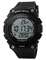 Men's Sport Watch Digital Watch Digital Calendar Water Resistant / Water Proof Pedometer Stopwatch PU Band Black Green