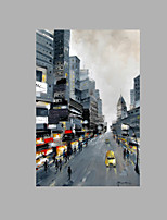IARTS® Modern Abstract Modern NewYork City Street View Scenery Handmade Oil Painting On Canvas with Stretched Frame Wall Art For Home Decoration Ready