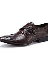 Для мужчин Свадебная обувь Формальная обувь Кожа Весна Осень Свадьба Для вечеринки / ужина Формальная обувь Черный Кофейный Менее 2,5 см