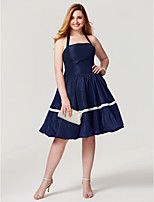 Princess Halter Knee Length Taffeta Cocktail Party Homecoming Dress with Bow(s) Pleats by TS Couture®