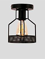Vintage 1 lumières caisse en métal noir loft lampe de plafond encastré salle à manger cuisine éclairage