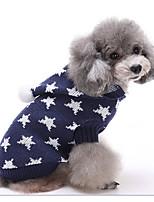 Hund Pullover Hundekleidung Lässig/Alltäglich Geometrisch Schwarz Dunkelblau Rot Grün Rosa