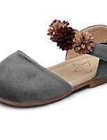 Girls' Flats Comfort Flower Girl Shoes Velvet Spring Fall Wedding Casual Party & Evening Dress Comfort Flower Girl ShoesApplique Magic