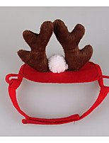 Cat Hair Accessories Dog Clothes Cosplay Christmas Reindeer Ruby