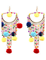 Women's Drop Earrings Jewelry Tassel Hip-Hop Gothic Luxury Oversized Punk Plush Fabric Alloy Geometric Jewelry ForParty Graduation
