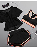 Women's Running T-Shirt Sports Bras Running Shorts Short SleevesCamping & Hiking Fitness, Running & Yoga Quick Dry Shockproof Non Toxic