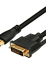 DVI Кабель-переходник, DVI to HDMI 2.0 Кабель-переходник Male - Male Позолоченная медь 3.0M (10Ft)