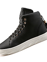 Men's Sneakers Fashion Boots Fall Winter TPU Casual Outdoor Low Heel White Black Ruby Under 1in
