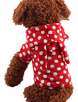 Dog Costume Dog Clothes Casual/Daily Polka Dots Blue Ruby Purple