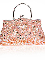 L.WEST Woman Fashion Luxury High-grade Beaded Heart-Shape Evening Bag