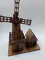 Пазлы 3D пазлы Строительные блоки Игрушки своими руками Знаменитое здание Лошадь Дерево