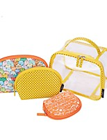 Women Bags All Seasons PVC Storage Bag with for Casual Orange