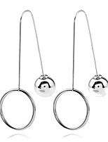 Women's Drop Earrings Hoop Earrings Hip-Hop Cute Style Gothic Simple Style Metal Alloy Chrome Alloy Jewelry ForGift Casual Evening Party