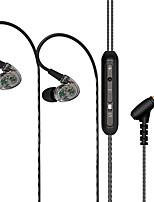 Doboly x18 ספורט ספורט אוזניות המחשב טלפון אוזניות אוזניות בס קול אוזניות שקוף כפול ליבה -4 הדובר להקיף