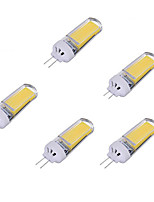 3W Luces LED de Doble Pin 1 COB 250-350 lm Blanco Cálido Blanco Fresco AC220 V 5 piezas