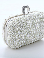 Women Evening Bag Special Material All Seasons Wedding Event/Party Formal Square Rhinestone Mini Spot Chain Clasp Lock Blushing Pink White