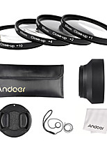 Andoer 55mm close-up set di filtri obiettivo lenti (1 2 4 10) con accessori lenti