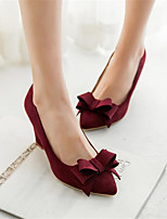 Women's Shoes PU Spring Comfort Sandals Chunky Heel Wedge Heel Stiletto Heel For Casual Black Blushing Pink Burgundy