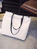 Women Shoulder Bag Canvas All Seasons Casual Outdoor Round Zipper Black White Blue