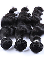 Silky Smooth 3 Bundles 300g Brazilian Virgin Human Hair Wefts 100% Unprocessed Natural Black Hair 130% Density Loose Wave Human Hair Weaves/Extensions