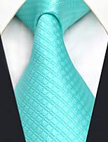 Для мужчин Винтаж Для вечеринки Для офиса На каждый день Офисный Высокое качество Мода Галстук,Все сезоны Шёлк Однотонный