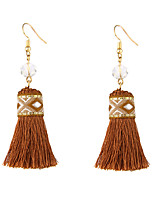Women's Drop Earrings Jewelry Dangling Style Tassel Bohemian Adjustable Stretch Luxury Polyester/Linen Blend Geometric Jewelry ForParty