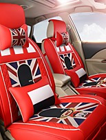 Cartoon Car Seat Cushion Leather Seat Cover Four Seasons General Flax Seat - German Red Empire Soldier