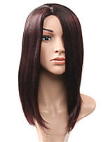 Long Straight Black Dark Wine Natural Wigs for Women Costume Cosplay Synthetic Wigs