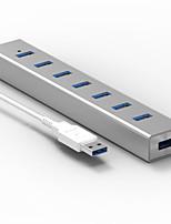 Blueendless h702u3 usb3.0 5.0 gbps 7 portas hub de cabo 0.6m com adaptador de alimentação