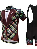 Maillot et Cuissard à Bretelles de Cyclisme Homme Vélo Ensemble de Vêtements Ventilation Séchage rapide Poche arrièrePrintemps/Automne