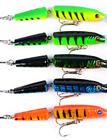 10.5cm Classic Road Sub-fish Bait Road sub-bionic Bait 5Pcs Road Bait Double Fish  Bait