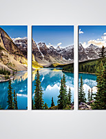 Stretched Canvas Print Blue Lake and Mountains Giclee Print Art for  Wall Decoration Ready to Hang