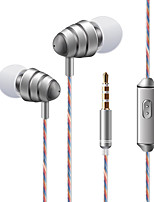 KDK 204 In Ear Wired Headphones Dynamic Plastic Mobile Phone Earphone Stereo with Microphone with Volume Control Headset
