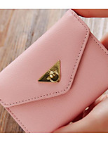 Women Card & ID Holder Cowhide All Seasons Casual Outdoor Square Clasp Lock Light Blue Blushing Pink Black
