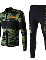 Men's 3mm Full Wetsuit Sports Terylene Diving Suit Long Sleeve Diving Suits-Diving & Snorkeling All Seasons Camouflage Color