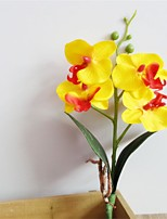 1Pcs Artificial Butterfly Orchid Silk Decorative Flower Artificial Flowers Home Wedding Decor