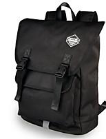 Men Backpack PU All Seasons Casual Bucket Zipper Black