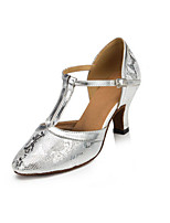 Women's Latin Synthetic Heels Indoor Pattern/Print Stiletto Heel Sliver 2