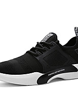 Men's Sneakers Comfort Spring Summer Fall Winter Tulle Walking Shoes Casual Party & Evening Outdoor Lace-up Flat Heel Black Gray Flat