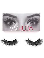 VVHUDA 3D Mink Eyelashes Upper Mink Lashes Soft Black Natural Thick False Lashes Handmade Fake Eye Makeup Extension Samantha