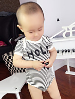 Baby' Fashion And Comfortable Short-Sleeved Triangle Jumpsuits Stripe Cotton Dress Climb Clothes Bag Fart (Pattern Is Random)