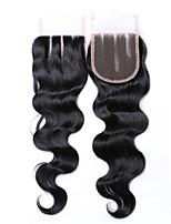 8 Inches 4*4 Lace Top Closure 100% Brazilian Human Hair Factory Wholesale Top Selling #1B Natural Black Body Wave Hair Closure 1 Pcs