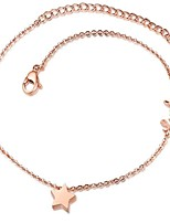 Women's Anklet/Bracelet Titanium Steel Fashion Star Jewelry For Event/Party Dailywear Casual