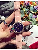 Men's Fashion Watch Quartz Leather Band Black White Blue Red Pink Purple Rose