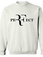 Men's Casual/Daily Sweatshirt Letter Round Neck Micro-elastic Cotton Long Sleeve Spring