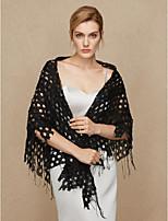 Women's Wrap Shawls Cotton Wedding Party/ Evening Tassel(s)