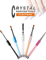 Pinpai 5 New Crystal Nail Paint Painting Pen Nail Modelling Light Therapy Nail Brushes Nail Art Tool Nail Salon